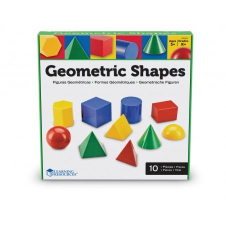 Corpuri geometrice din plastic - 10 piese Learning Resources