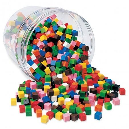 Cuburi multicolore (1cm) Learning Resources