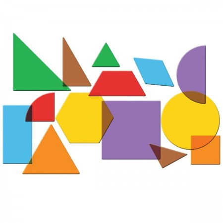 Forme geometrice transparente (408 piese) Learning Resources
