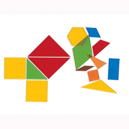 Poligoane colorate - set 450 buc Learning Resources