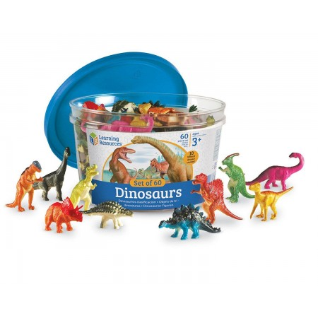 Set pentru sortat - Dinozauri jucausi (60 piese) Learning Resources