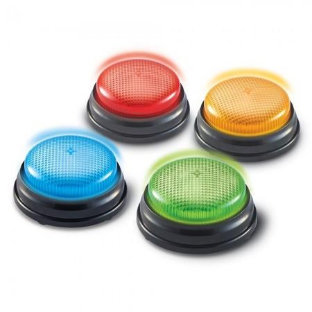Sonerii cu lumini si sunete pentru raspuns - set 4 buc Learning Resources