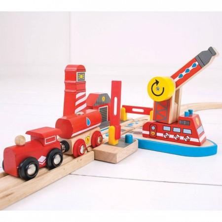 Platforma pompierilor Bigjigs