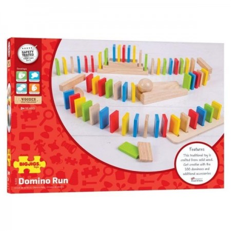 Domino din lemn Bigjigs