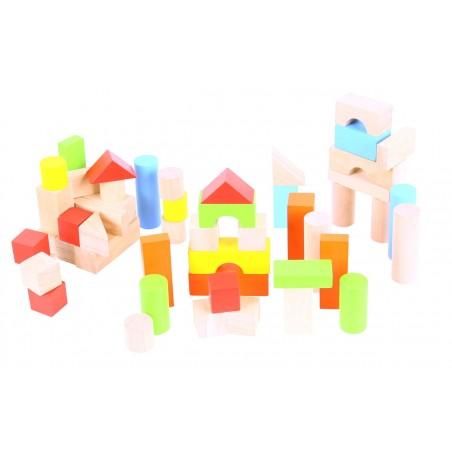 Cuburi colorate pentru construit Bigjigs