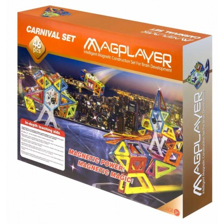Joc de constructie magnetic - 46 piese Magplayer