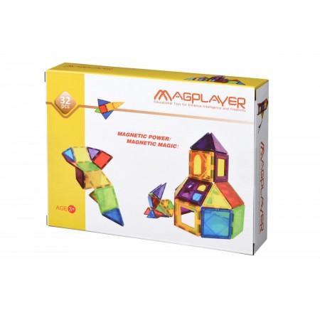 Set de constructie magnetic - 32 piese Magplayer