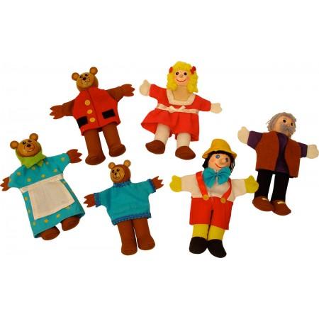 2 in 1 - Pinochio si Povestea Cei trei ursuleti - Papusi degetar Bigjigs