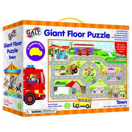 Giant Floor Puzzle: Orasul (30 piese) Galt