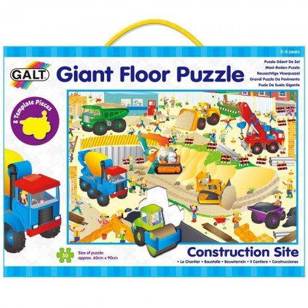 Giant Floor Puzzle: Santierul (30 piese) Galt