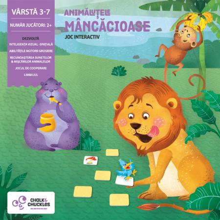 Joc interactiv - Animalutele mancacioase Chalk And Chuckles