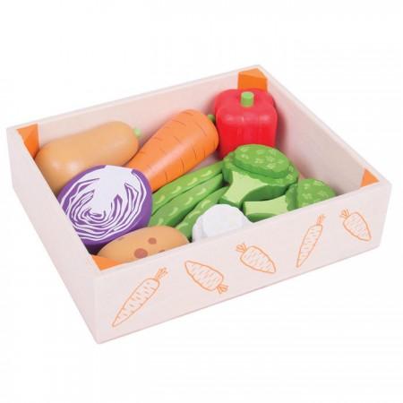 Cutiuta cu legume din lemn Bigjigs