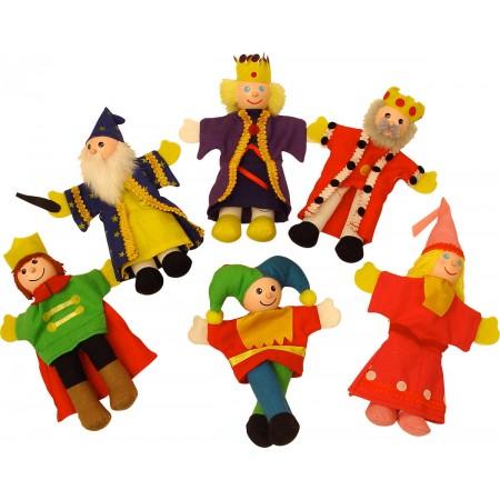 "Set papusi degetar - ,,Frumoasa din padurea adormita"" si ,,Regele Arthur"" Bigjigs"