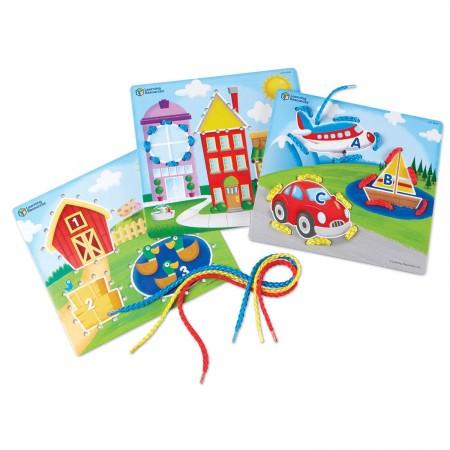 Joc de indemanare - Carduri pentru snuruit Learning Resources