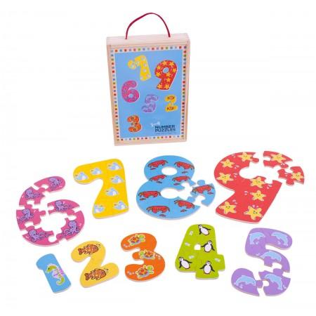 Puzzle-ul cifrelor 1 - 9 Bigjigs