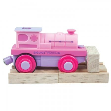 Locomotiva roz Bigjigs