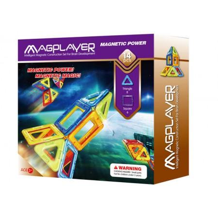 Joc de constructie magnetic - 14 piese Magplayer