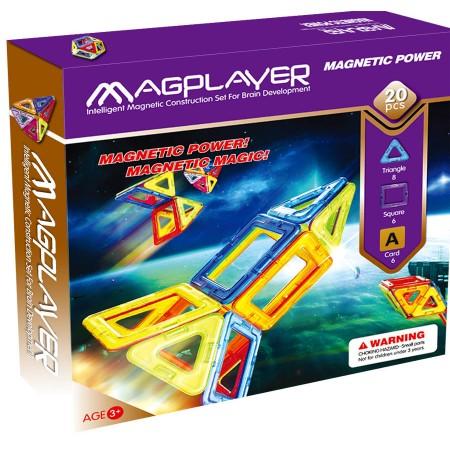 Joc de constructie magnetic - 20 piese Magplayer