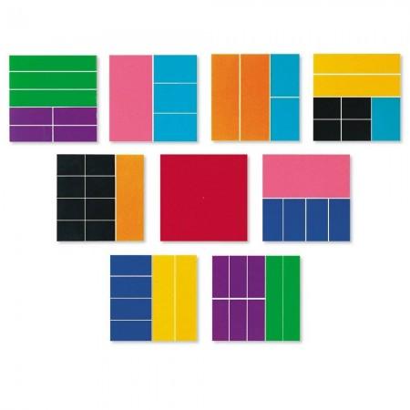 Geometria fractiilor - Patrate Learning Resources