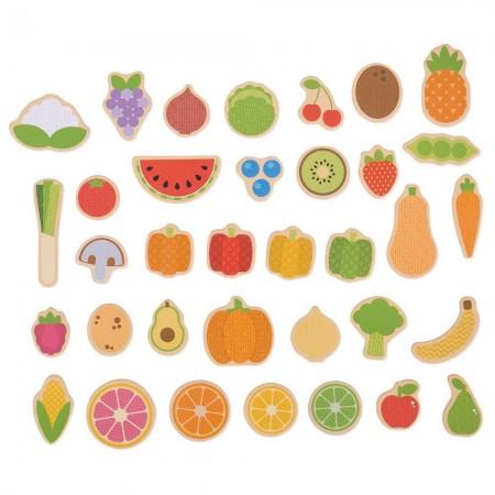 Set magnetic - Fructe si Legume Bigjigs