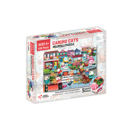 Puzzle cu surprize - Helpfilli (100 piese) Chalk And Chuckles