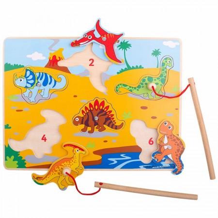 Joc magnetic - Dinozaurii fiorosi Bigjigs