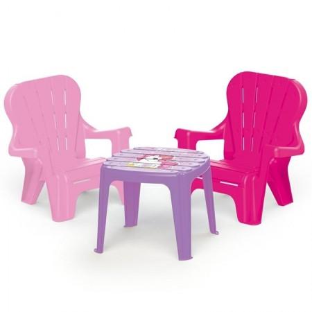 Set de masa cu scaune - Unicorn Dolu