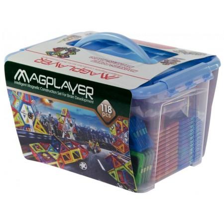 Joc de constructie magnetic - 118 piese Magplayer