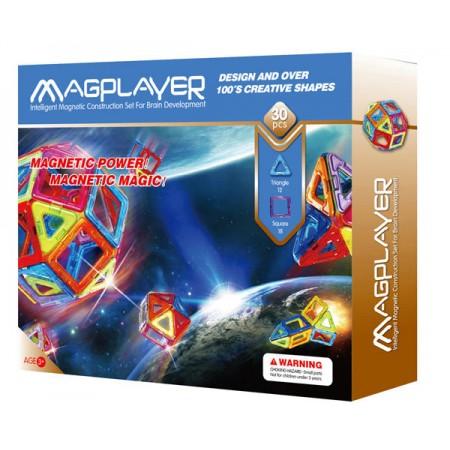 Joc de constructie magnetic - 30 piese Magplayer