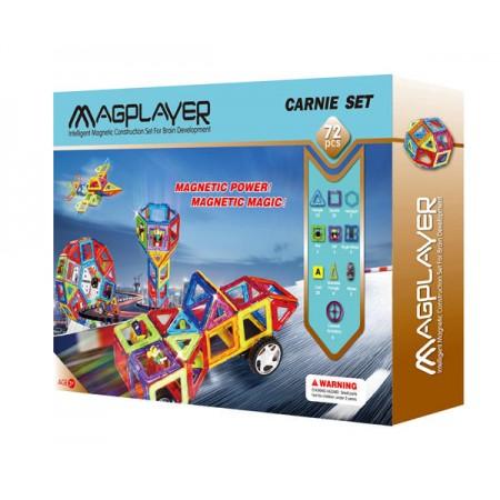 Joc de constructie magnetic - 72 piese Magplayer