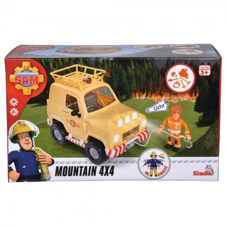 Masina Simba Fireman Sam, Sam Mountain 4x4 cu 1 figurina si accesorii*