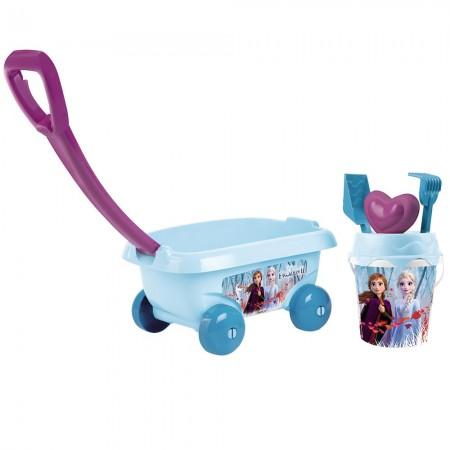 Set jucarii nisip Smoby Carucior Frozen 2 cu accesorii*
