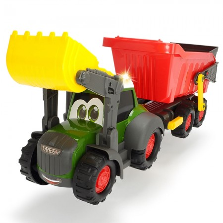 Tractor Dickie Toys Happy Farm cu remorca*