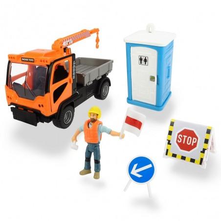 Camion Dickie Toys Playlife M.T. Ladog Service Set cu figurina si accesorii*