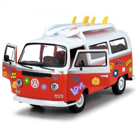 Masina Dickie Toys Volkswagen Surfer Van cu accesorii*