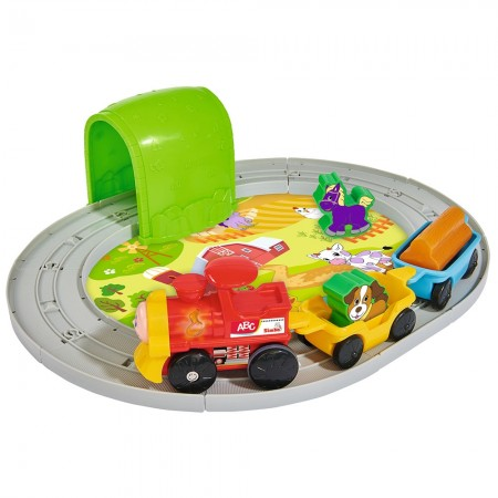 Set Simba Tren ABC Roll'n Rail cu sina circulara si accesorii*