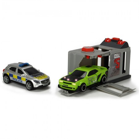 Pista de masini Dickie Toys Prison Break cu 2 masini*