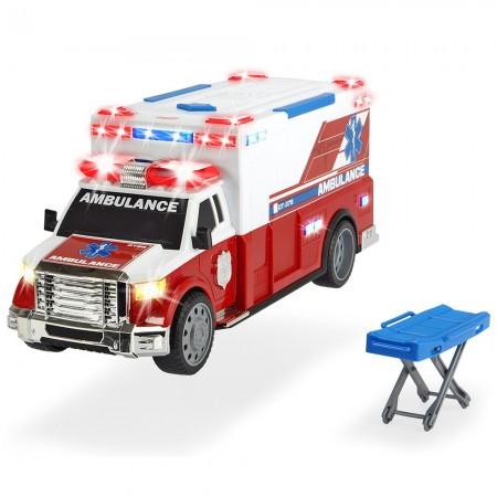 Masina ambulanta Dickie Toys Ambulance DT-375 cu accesorii*
