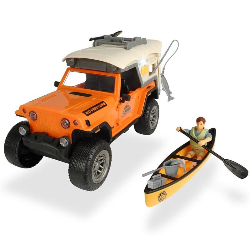 Masina Dickie Toys Playlife Camping Set cu figurina si accesorii*