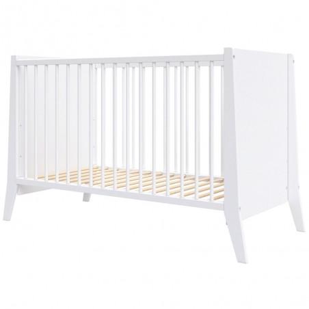 Patut copii din lemn Hubners Cosmo 120x60 cm alb*