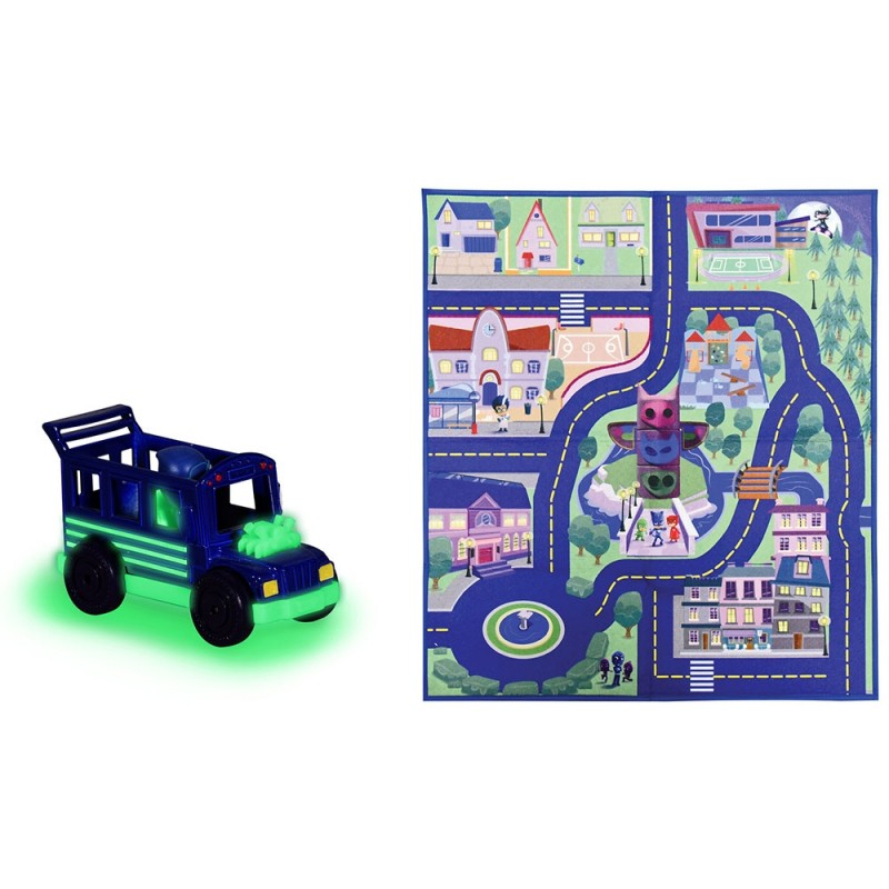 Covoras de joaca Dickie Toys Eroi in Pijama cu masina*
