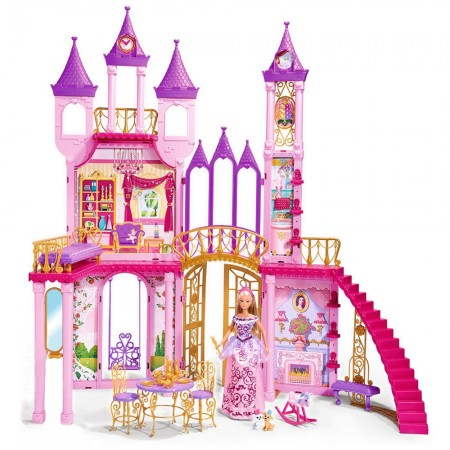 Casuta pentru papusi Simba Dream Castle cu papusa Steffi Love 29 cm, papusa Evi Love 12 cm si accesorii*