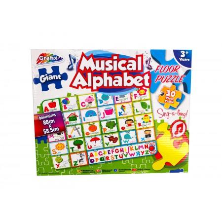 Puzzle de podea muzical - Alfabetul vesel Grafix.*