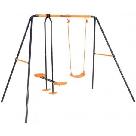 Leagan dublu pentru copii cu balansoar 08605 MVS model Venus pentru exterior si cadru metal*