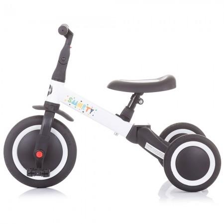 Tricicleta si bicileta Chipolino Smarty 2 in 1 white*