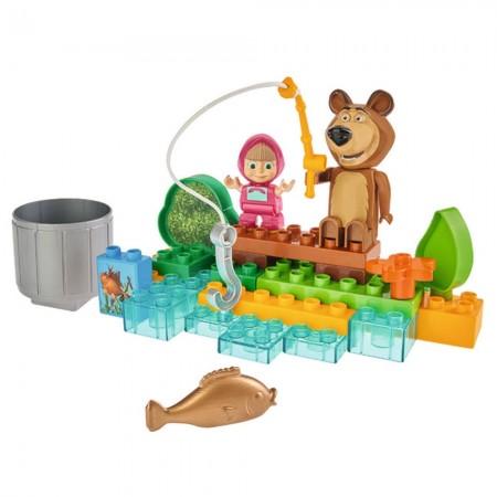 Set constructie Big Masha and the Bear Go Fishing 29 piese*