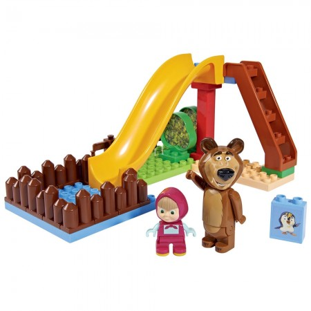 Set constructie Big Masha and the Bear Pool Fun 29 piese*