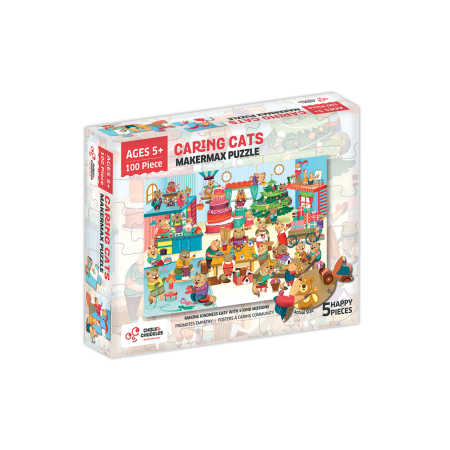 Puzzle cu surprize - Makermax (100 piese) Chalk And Chuckles.*