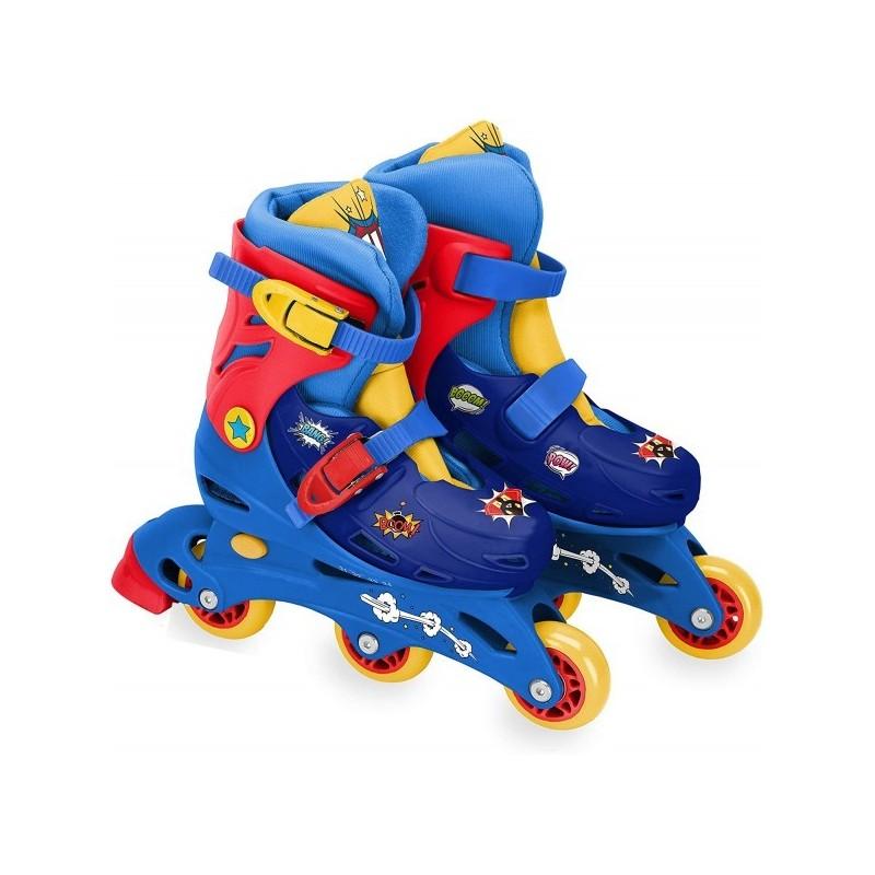 Role pentru copii cu 3 roti Saica 2404 Comic marime reglabila 31-34 roti interschimbabile frana de picior*