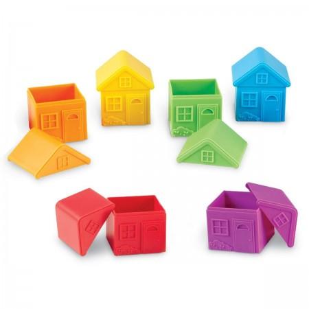 Joc de sortare - Casute colorate Learning Resources.*
